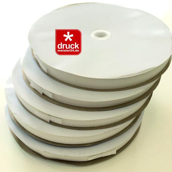 Klettband 20mm weiß selbstklebend 25 Laufmeter (ACRYLATKLEBER)